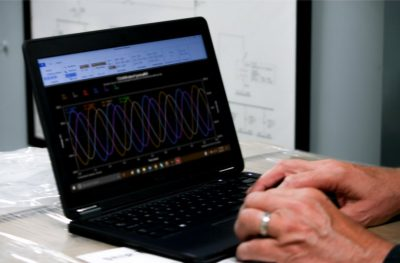 Waveforms on Laptop In Use